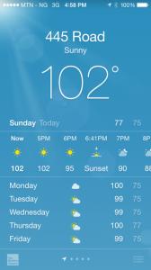 102 weather