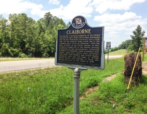 The Town of Claiborne (Historical Sign)