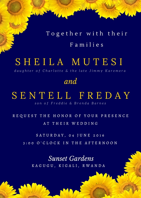 June 4 Wedding Invite