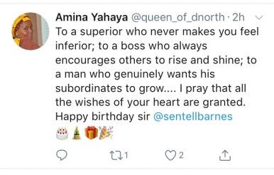 Amina Y Birthday wish